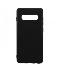 Lemontti Silky - Samsung Galaxy S10 Plus Carcasa Silicon Negru