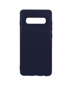 Lemontti Silky - Samsung Galaxy S10 Plus Carcasa Silicon Albastru Inchis