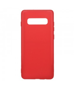 Lemontti Silky - Samsung Galaxy S10 Plus Carcasa Silicon Rosu