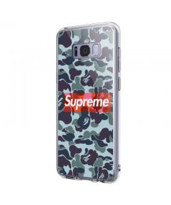 Camo Supreme - Samsung Galaxy S8 Plus Carcasa Transparenta Silicon