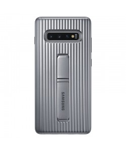 Protective Standing Silver - Samsung Galaxy S10 Plus Carcasa