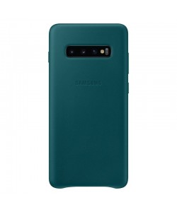 Samsung Leather Cover Green - Samsung Galaxy S10 Plus Carcasa Piele
