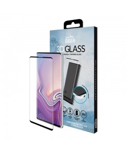 Folie Eiger Sticla 3D Case Friendly Clear Black - Samsung Galaxy S10