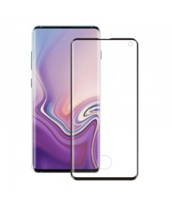 Folie Eiger Sticla 3D Edge to Edge Clear Black - Samsung Galaxy S10