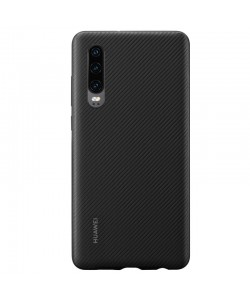 Huawei Case - Huawei P30 Carcasa PU Neagra