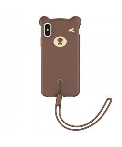 Baseus Bear Brown - iPhone XS Max Carcasa Silicon