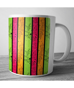 Cana personalizata - Stripes and Flowers