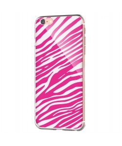 Pink Zebra - iPhone 6 Carcasa Transparenta Silicon