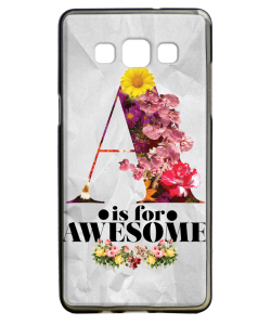 A is for Awesome - Samsung Galaxy A5 Carcasa Silicon