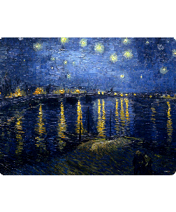 Van Gogh - Starryrhone - Sony Xperia Z1 Carcasa Fumurie Silicon