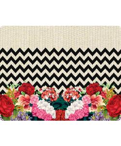 Floral Contrast - Samsung Galaxy S6 Edge Carcasa Silicon Premium