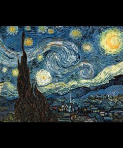 Van Gogh - Starry Night - Samsung Galaxy S4 Carcasa Silicon