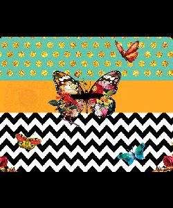 Butterfly Contrast - iPhone 6 Plus Carcasa TPU Premium Neagra