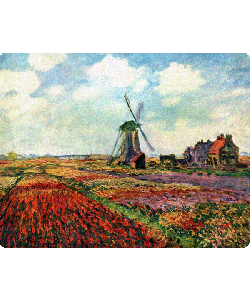 Claude Monet - Fields of Tulip With The Rijnsburg Windmill - Samsung Galaxy S4 Carcasa Transparenta Silicon