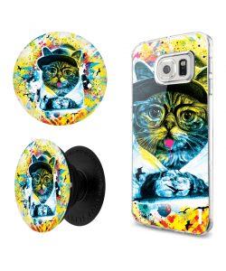 Combo Popsocket Hipster Meow