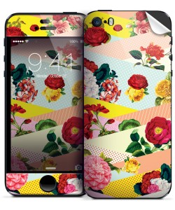 Flowers, Stripes & Dots - iPhone 5/5S Skin