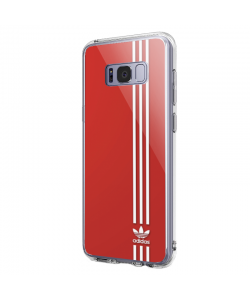 Red Adidas - Samsung Galaxy S8 Plus Carcasa Transparenta Silicon