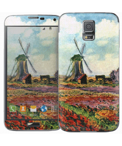 Claude Monet - Fields of Tulip With The Rijnsburg Windmill - Samsung Galaxy S5 Skin