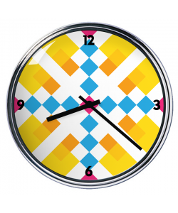 Ceas personalizat - Zoom in Pastel