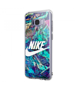 Nike Glitches - Samsung Galaxy S8 Plus Carcasa Transparenta Silicon