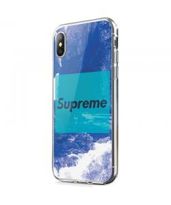 Vaporwave Supreme - iPhone X Carcasa Transparenta Silicon
