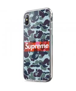 Supreme Camo - iPhone X Carcasa Transparenta silicon