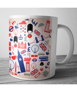 Cana personalizata - London Collage