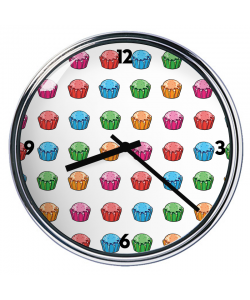 Ceas personalizat - Cupcake Pattern