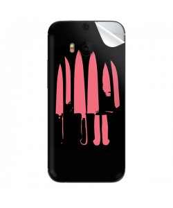 Pink Knife - HTC One M8 Skin
