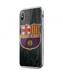 FCB - iPhone X Carcasa Transparenta Silicon