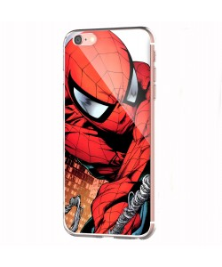 Spiderman - iPhone 6 Carcasa Transparenta Silicon