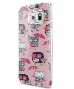 Pastel Owls - Samsung Galaxy S7 Carcasa Silicon