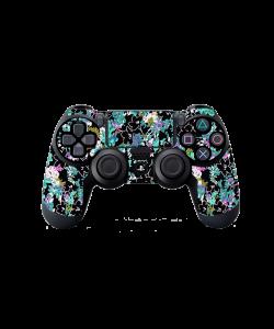 Floral Black - PS4 Dualshock Controller Skin