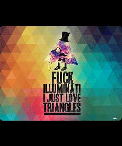 Love Triangles - Samsung Galaxy S4 Carcasa Transparenta Silicon
