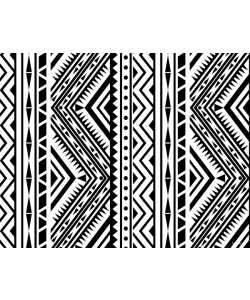 Tribal Black & White - iPhone 6 Plus Carcasa Plastic Premium