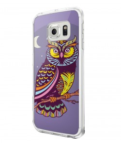 Purple Nights - Samsung Galaxy S6 Carcasa Plastic Premium