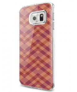 Marsala Zig Zag - Samsung Galaxy S7 Carcasa Silicon