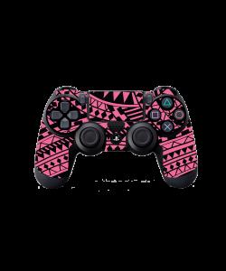 Pink & Black - PS4 Dualshock Controller Skin