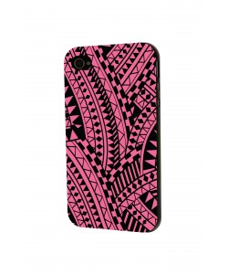 Pink & Black - iPhone 4 / 4S Skin