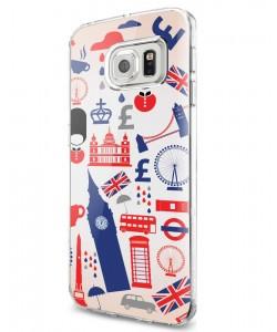 London Collage - Samsung Galaxy S7 Carcasa Silicon