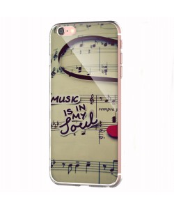Soul Music - iPhone 6 Carcasa Transparenta Silicon
