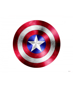 Captain America Logo - iPhone 6 Plus Carcasa Plastic Premium