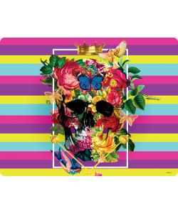 Floral Explosion Skull - Huawei P10 Lite Carcasa Transparenta Silicon