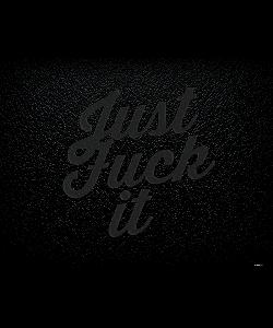 Just Fuck It - Samsung Galaxy S6  Husa Book Neagra Piele Eco