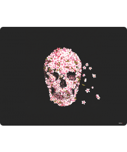 Cherry Blossom Skull - iPhone 6 Plus Carcasa TPU Premium Neagra