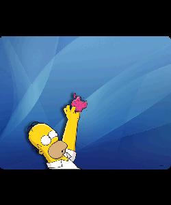 Apple Homer - Samsung Galaxy S4 Carcasa Transparenta Silicon