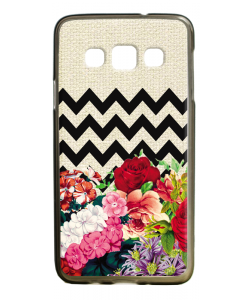 Floral Contrast - Samsung Galaxy A3 Carcasa Silicon Premium