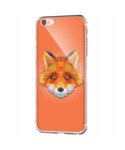 Origami Fox - iPhone 6 Carcasa Transparenta Silicon