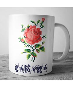 Cana personalizata - Red Rose