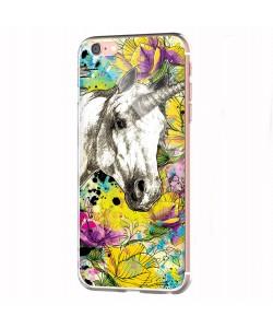 Unicorns and Fantasies - iPhone 6 Carcasa Transparenta Silicon